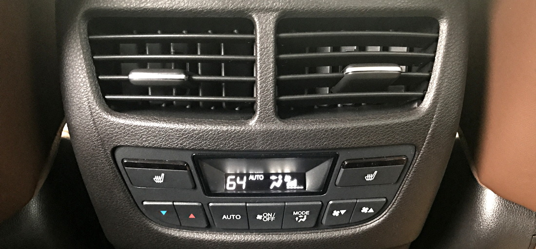 2017 acura mdx back passenger climate control