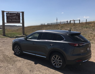 2017 mazda cx-9 awd, road trip colorado, wyoming, montana