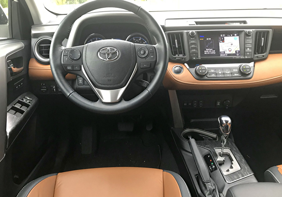 2017 toyota rav-4 platinum awd dash layout