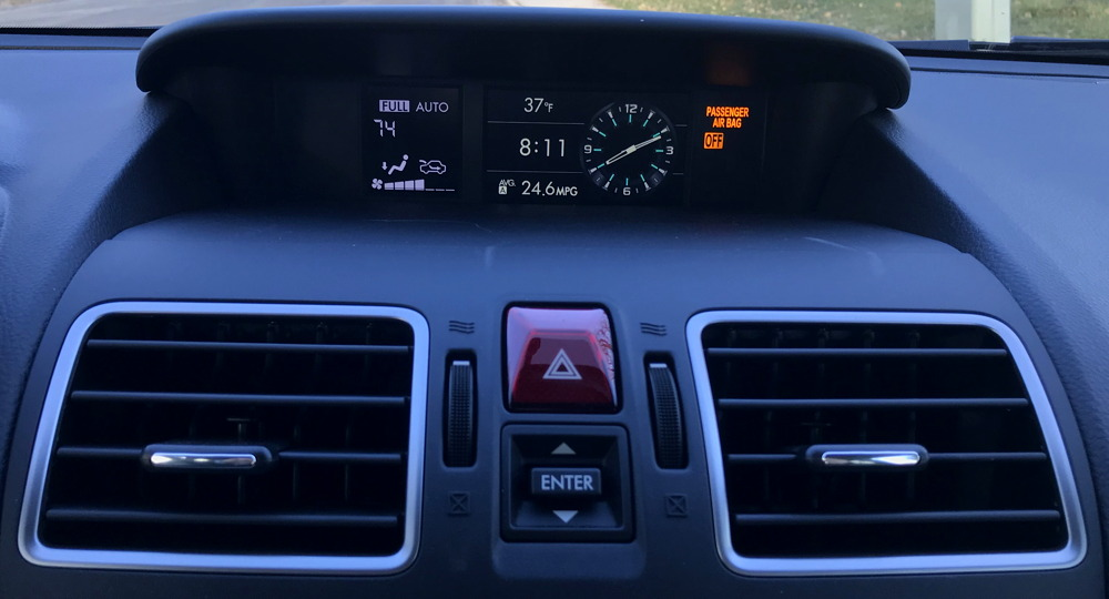 2018 subaru forester - top display screen