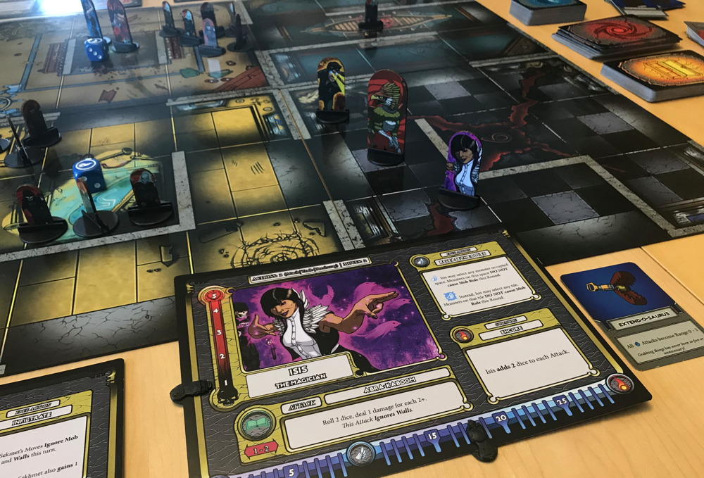 overview of coop board game mortals