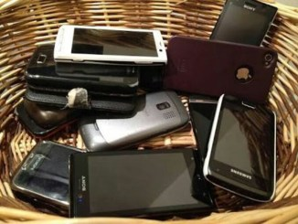 phones in basket