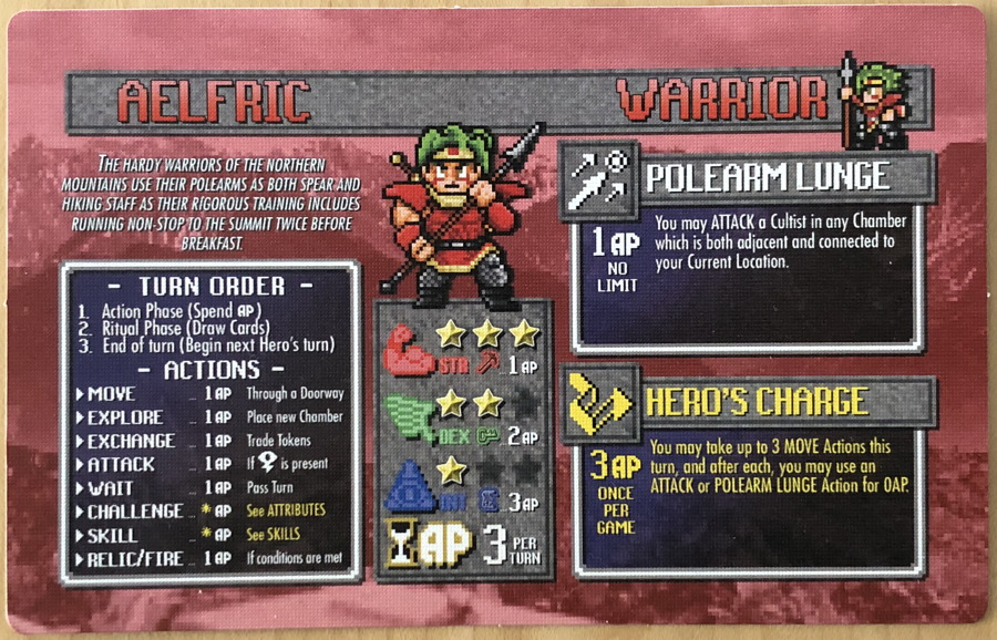 fire of eidolon hero card - warrior