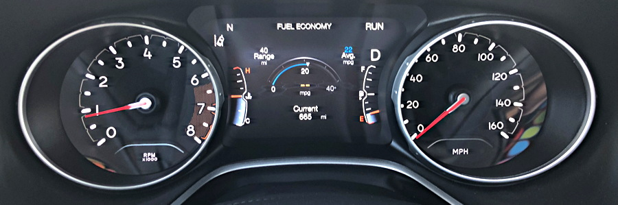 main dash gauges, 2018 jeep compass
