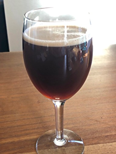 king's row coffee - king's brew cold brew - in wine glass