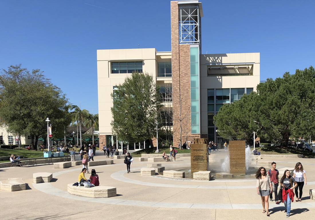 fountain, chapman university