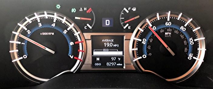 2018 toyota 4runner dash gauges
