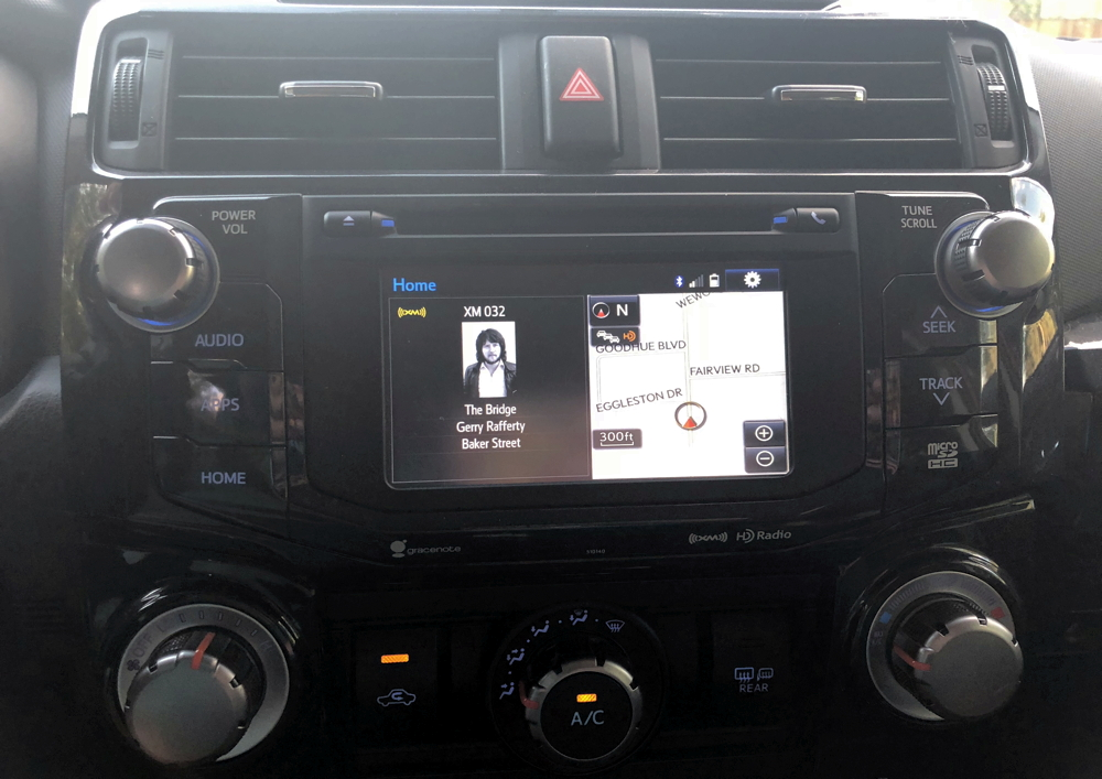 2018 toyota 4runner nav system entertainment