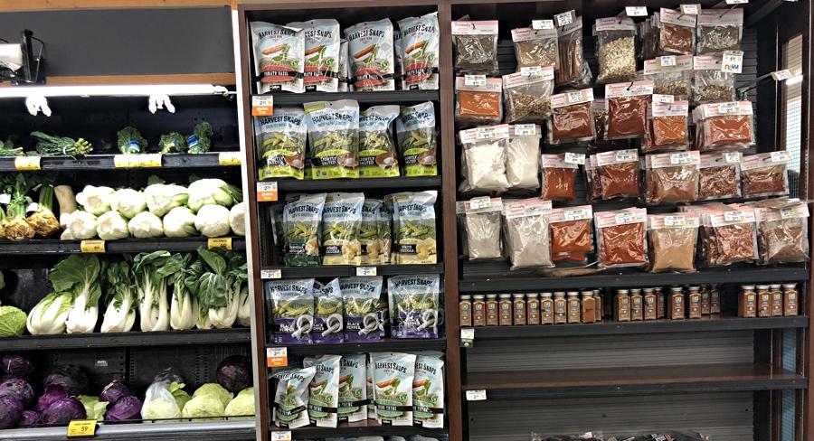 harvest snaps on the shelf, safeway supermarket