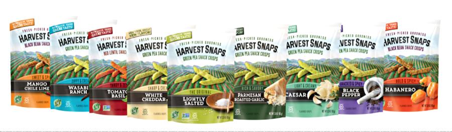 harvest snaps range of flavors