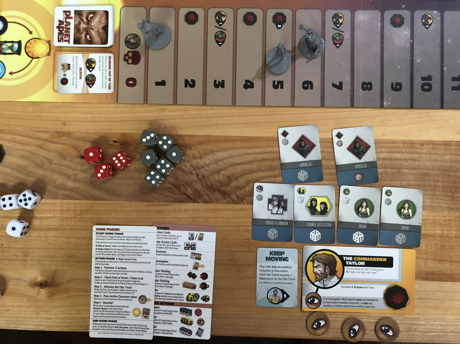 defiant taylor - planet of the apes - board game idw