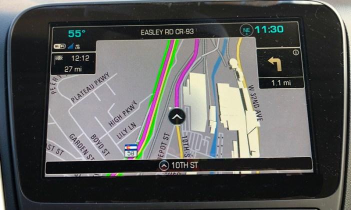 chevrolet mylink navigational system gps map