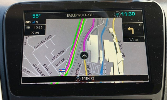 chevrolet mylink navigational system gps map