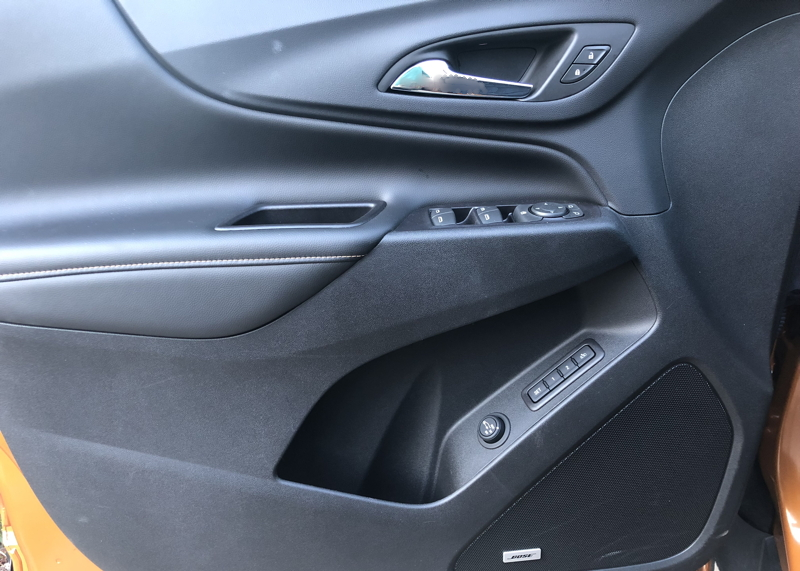 2018 chevy equinox premier driver's door controls