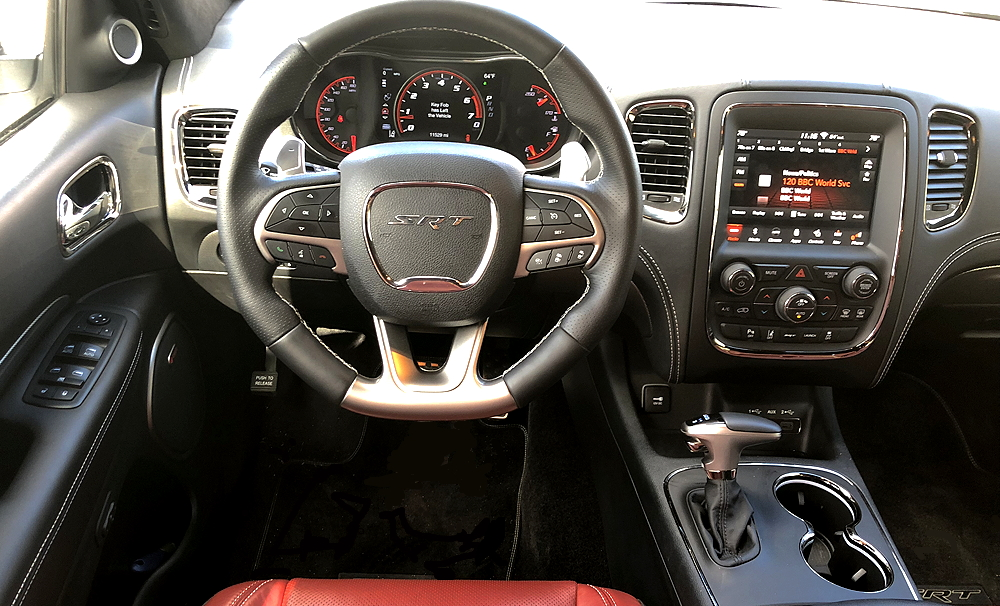 2018 dodge durango srt front dash design layout