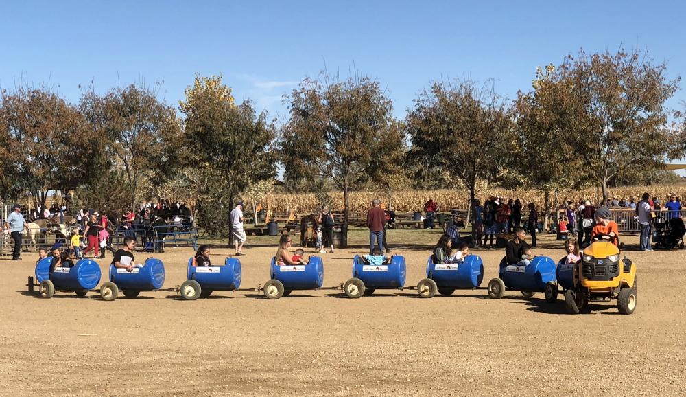 barrel train, anderson farms