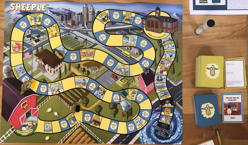 sheeple board and cards game