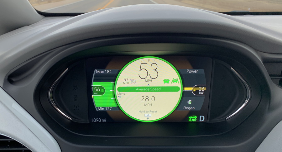 2019 chevy bolt ev premier - dashboard gauges display