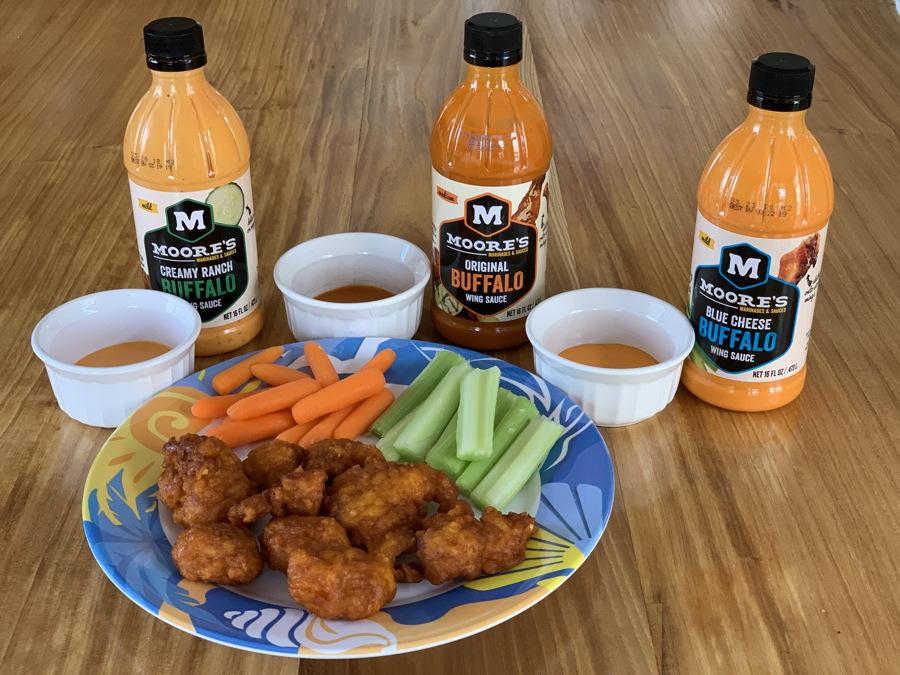 moores marinades wing sauce sample tasting