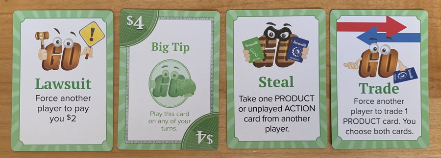 action cards, goventure entrepreneur card game