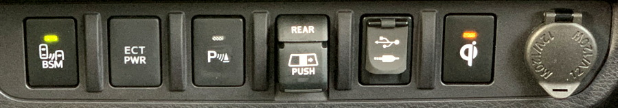 2019 toyota tacoma dash detail - controls