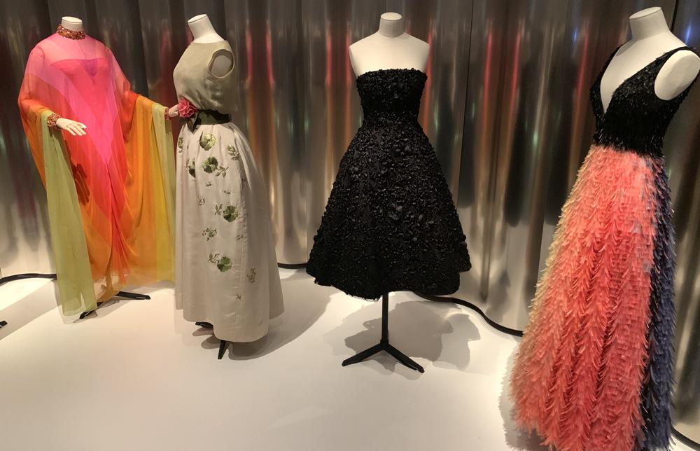 mid-century dresses, christian dior, denver art museum
