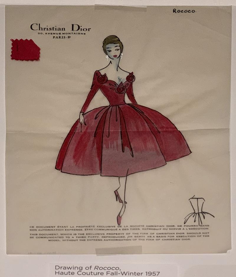 dior dress sketch illustration