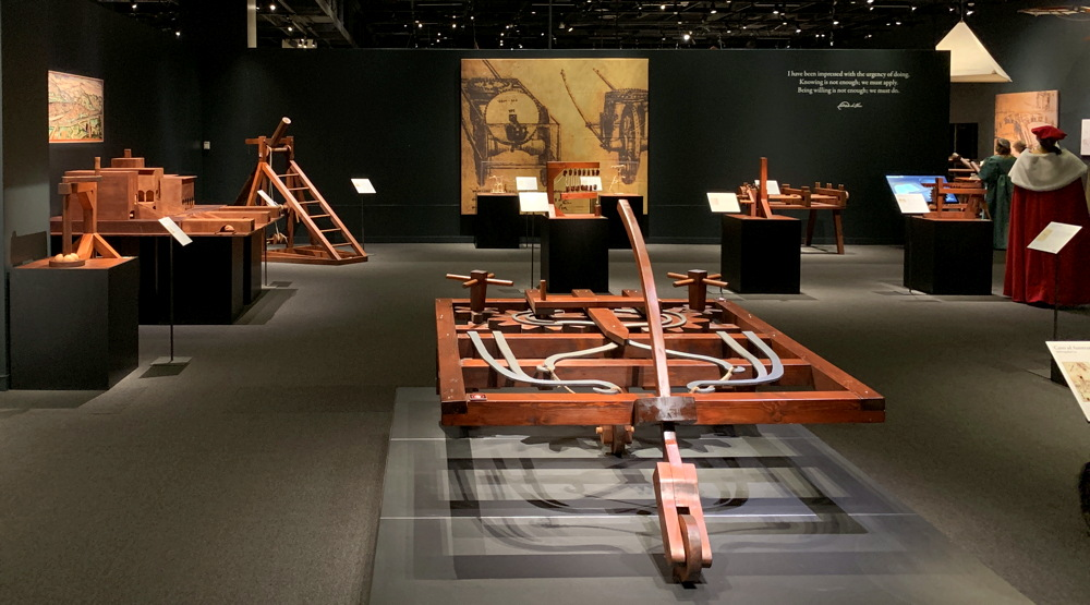 main exhibit area, leonardo da vinci 500 years dmns