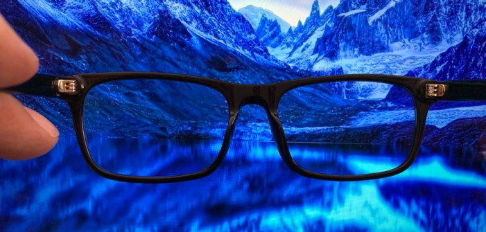 pixel eyewear and blue imagery
