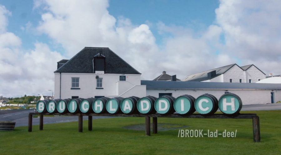 the scotch whisky distillery BRUICHLADDICH on Islay, Scotland