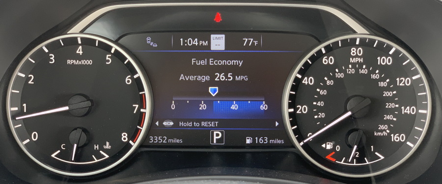 2019 nissan murano console gauges