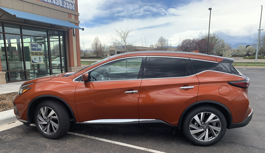 2019 nissan murano - side view