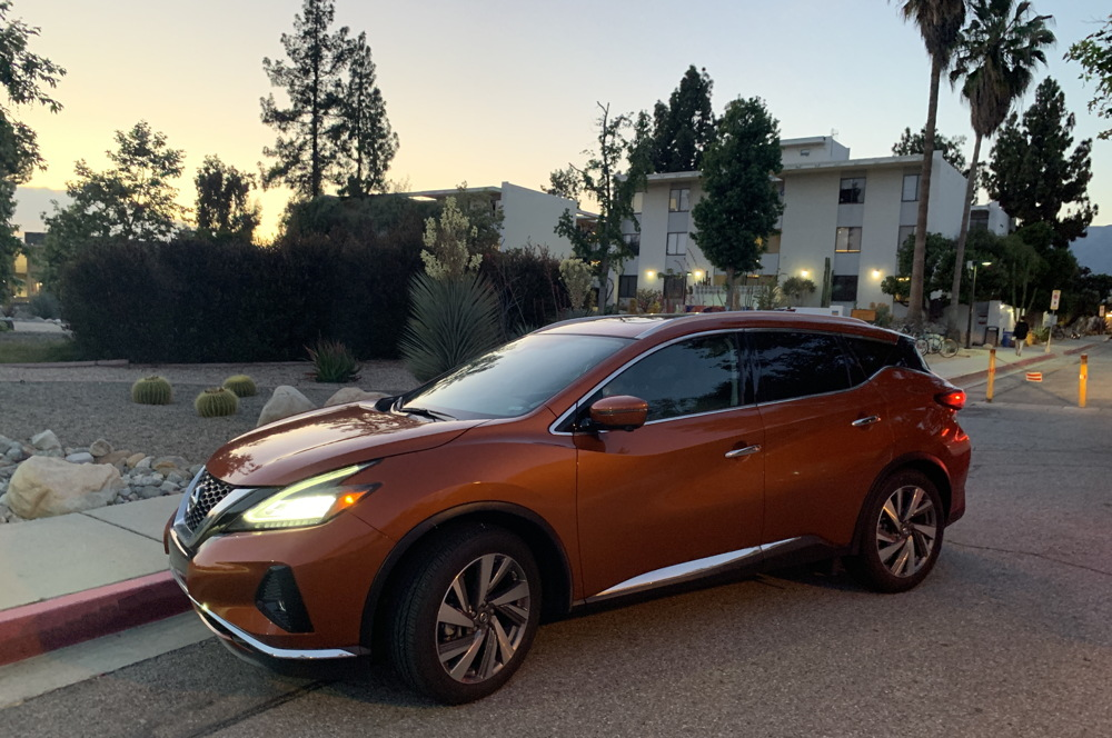 2019 nissan murano in front of pitzer college