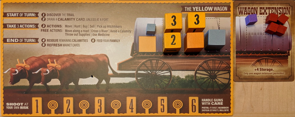 oregon trail conestoga wagon - board game