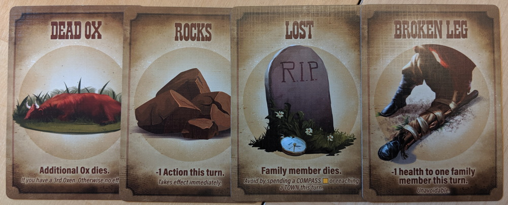oregon trail willamette valley - calamity cards
