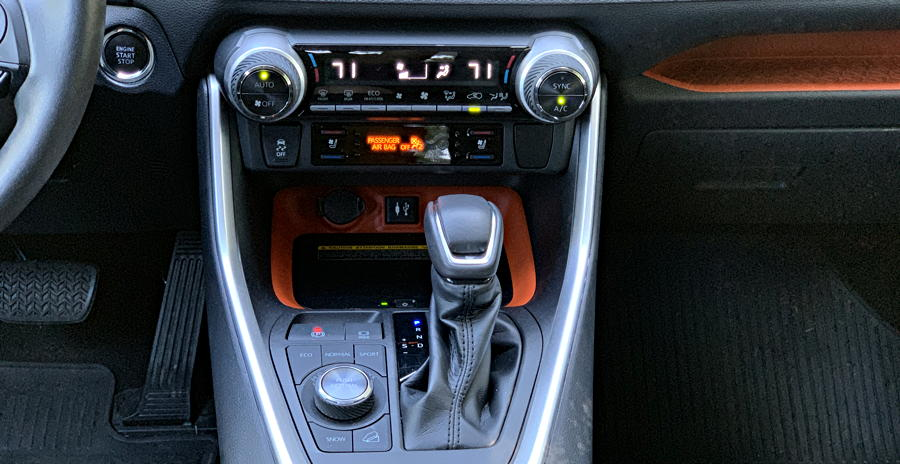 2019 toyota rav4 - gear shift close up interior