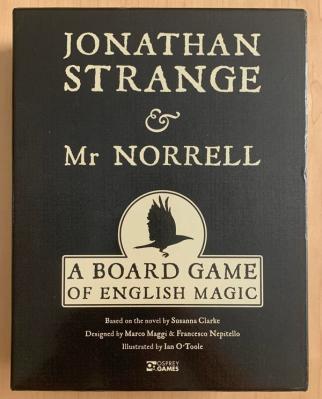 jonathan strange & Mr Norrell board game box