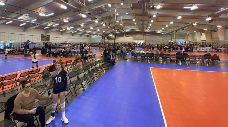 volleyball facility interior - greeley colorado usa volleyball