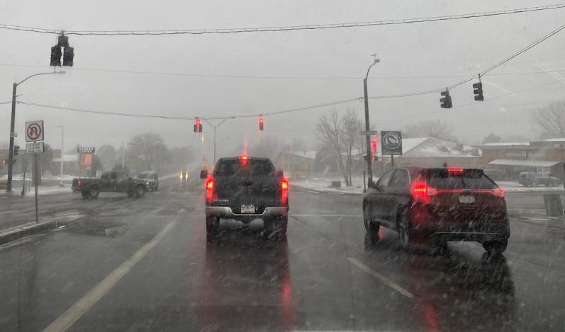 snow en route to volleyball tournament, colorado springs