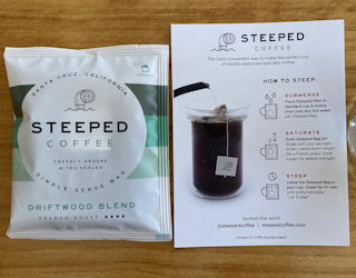 steeped coffee tea bags brew roast - taste test sampler