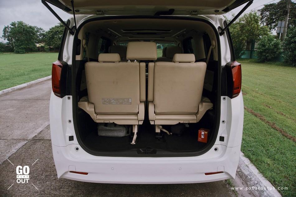 2019 Toyota Alphard 3.5 V6 Trunk Space