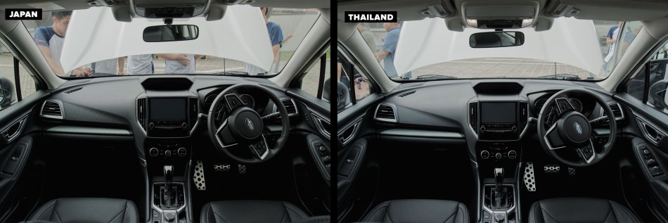 Interior design of of Thai-Made and Japan-Made Forester