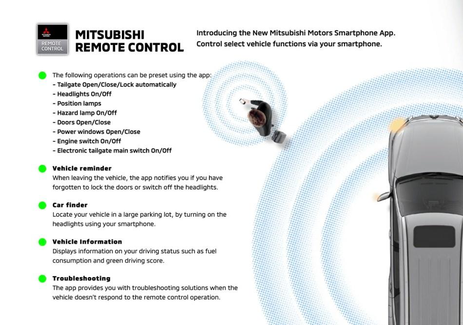 Mitsubishi Montero Sport Smartphone Remote App