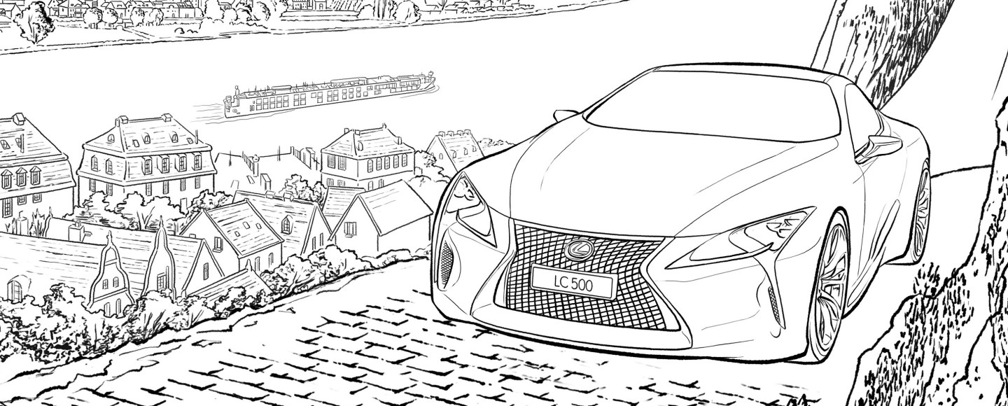 Cure Your Boredom With These Coloring Templates From Lexus