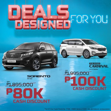 Sorento and Carnival Offer