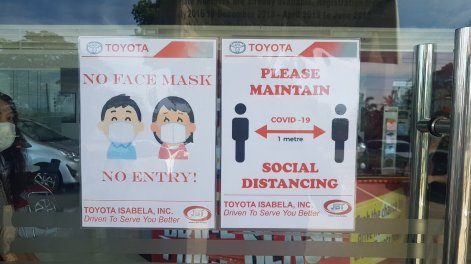 Toyota Isabela - safety reminders