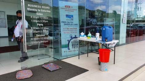 Toyota Tacloban - disinfection area prior to entering showroom
