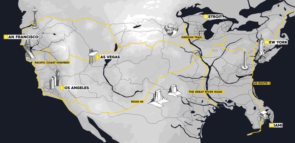 The Crew 2 Map