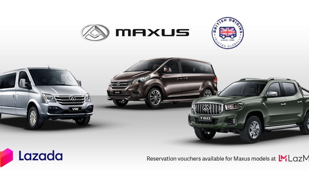 Maxus Vehicles Now On Lazada PH