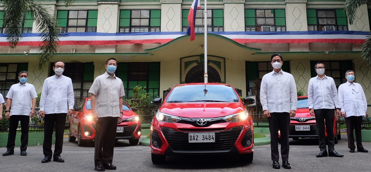30 Units Of The Toyota Vios Were Donated To The DOH